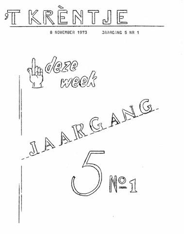 Oirlo's dorpsblad 't Krèntje 1973-11-08