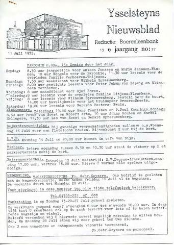 Ysselsteyns Nieuwsblad 1975-07-11