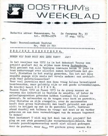 Oostrum's Weekblad 1973-08-17