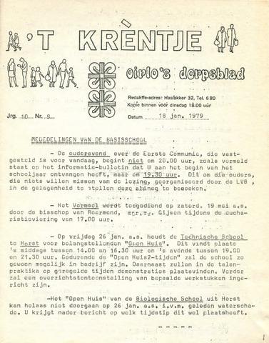 Oirlo's dorpsblad 't Krèntje 1979-01-18