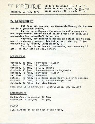 Oirlo's dorpsblad 't Krèntje 1975-01-23