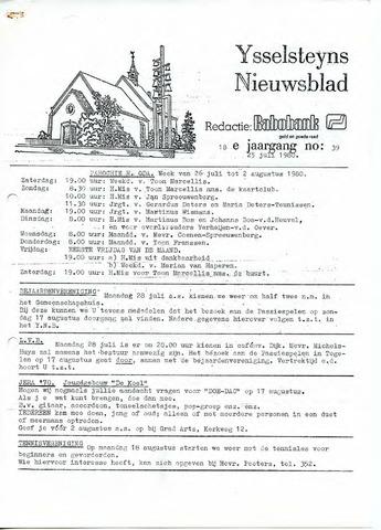 Ysselsteyns Nieuwsblad 1980-07-25