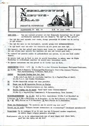 Ysselsteyns Nieuwsblad 1988-06-24