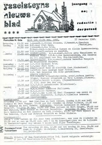 Ysselsteyns Nieuwsblad 1982-12-17