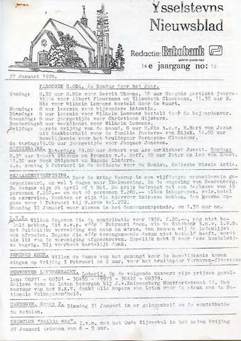 Ysselsteyns Nieuwsblad 1978-01-27