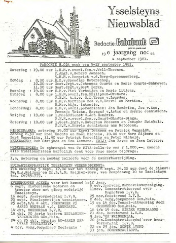 Ysselsteyns Nieuwsblad 1981-09-04