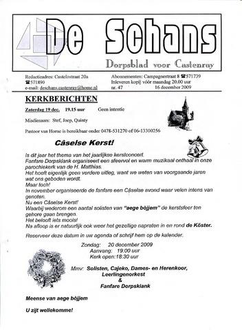 Castenrays dorpsblad De Schans 2009-12-16