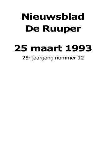 Dorpsblad Leunen-Veulen-Heide 1993-03-25