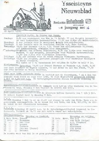 Ysselsteyns Nieuwsblad 1978-04-28