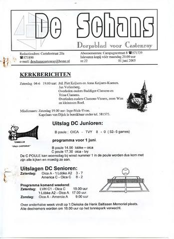 Castenrays dorpsblad De Schans 2005-06-01