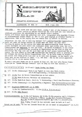 Ysselsteyns Nieuwsblad 1991-05-03