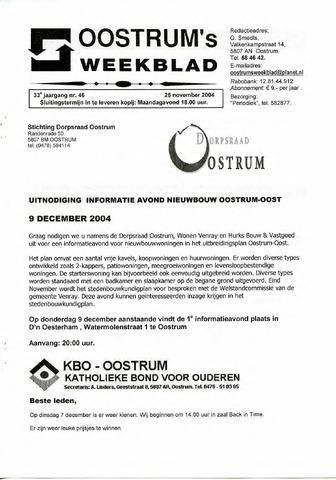 Oostrum's Weekblad 2004-11-25