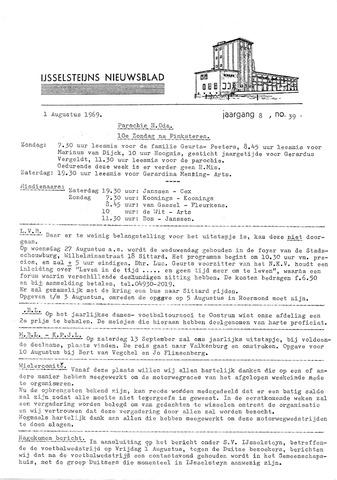 Ysselsteyns Nieuwsblad 1969-08-01