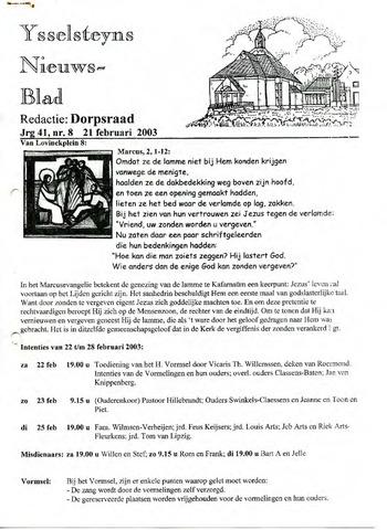 Ysselsteyns Nieuwsblad 2003-02-21