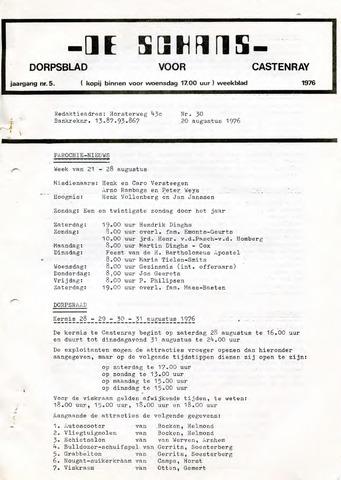 Castenrays dorpsblad De Schans 1976-08-20