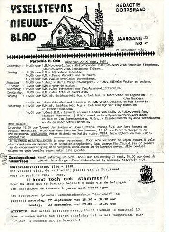 Ysselsteyns Nieuwsblad 1984-09-21