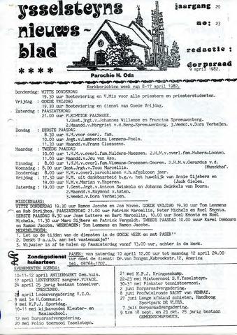 Ysselsteyns Nieuwsblad 1982-04-09