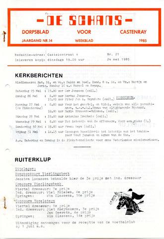 Castenrays dorpsblad De Schans 1985-05-24
