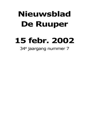 Dorpsblad Leunen-Veulen-Heide 2002-02-15