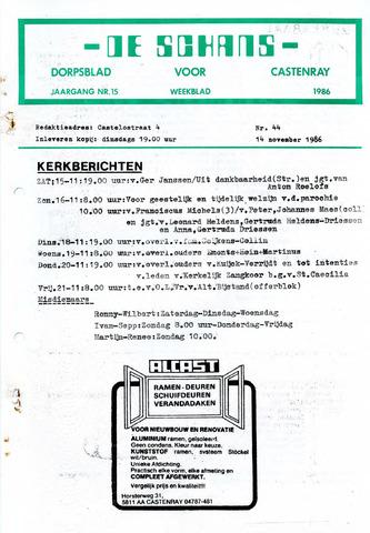 Castenrays dorpsblad De Schans 1986-11-14