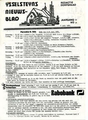 Ysselsteyns Nieuwsblad 1984-07-06