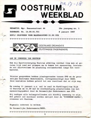 Oostrum's Weekblad 1987