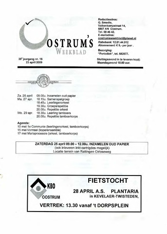 Oostrum's Weekblad 2009-04-23