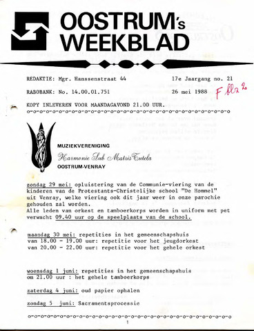 Oostrum's Weekblad 1988-05-26