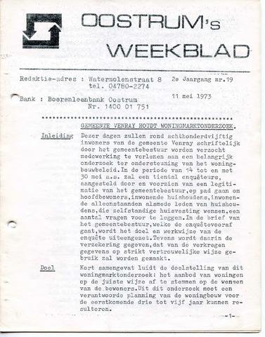 Oostrum's Weekblad 1973-05-11