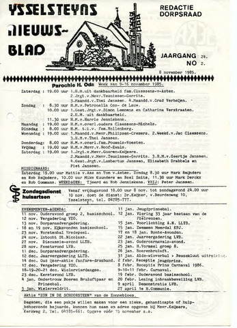 Ysselsteyns Nieuwsblad 1985-11-08