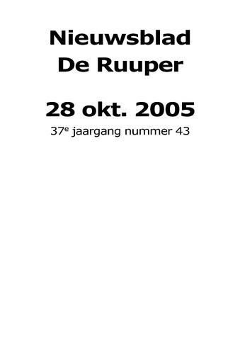 Dorpsblad Leunen-Veulen-Heide 2005-10-28