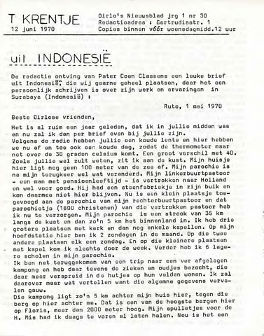 Oirlo's dorpsblad 't Krèntje 1970-06-12