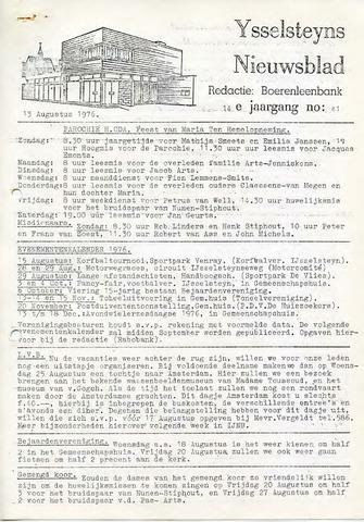 Ysselsteyns Nieuwsblad 1976-08-13