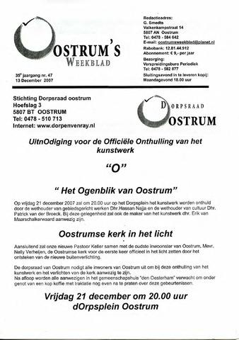 Oostrum's Weekblad 2007-12-13
