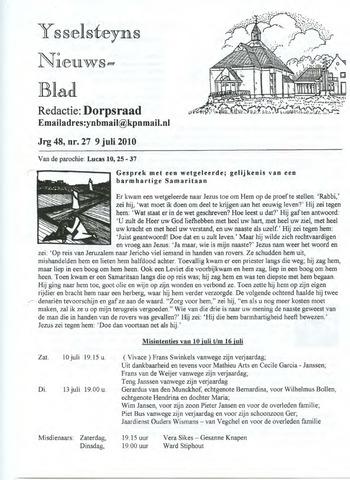 Ysselsteyns Nieuwsblad 2010-07-09