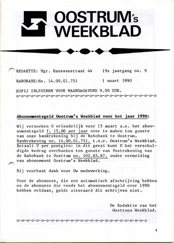 Oostrum's Weekblad 1990-03-01
