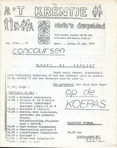 Oirlo's dorpsblad 't Krèntje 1979-05-24