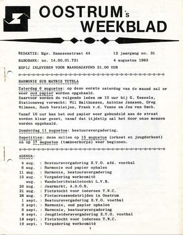 Oostrum's Weekblad 1983-08-04