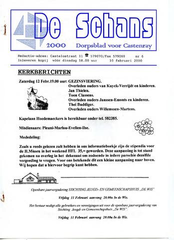 Castenrays dorpsblad De Schans 2000-02-10