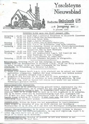 Ysselsteyns Nieuwsblad 1981-01-09