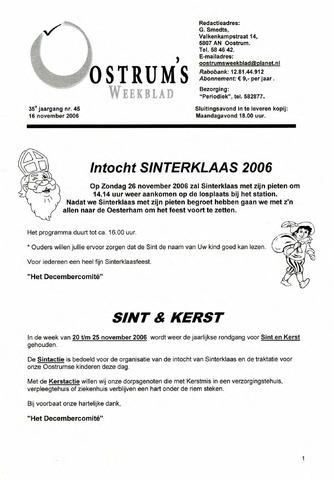 Oostrum's Weekblad 2006-11-16