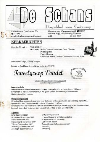 Castenrays dorpsblad De Schans 2007-05-23