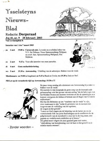 Ysselsteyns Nieuwsblad 2003-02-28