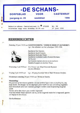 Castenrays dorpsblad De Schans 1996-06-27