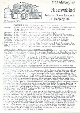Ysselsteyns Nieuwsblad 1975-02-21