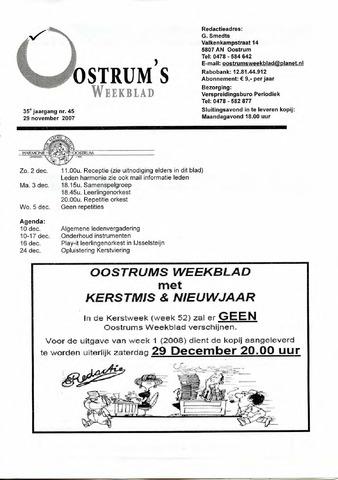 Oostrum's Weekblad 2007-11-29