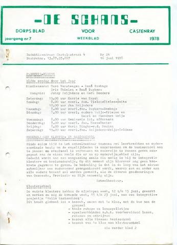 Castenrays dorpsblad De Schans 1978-06-16