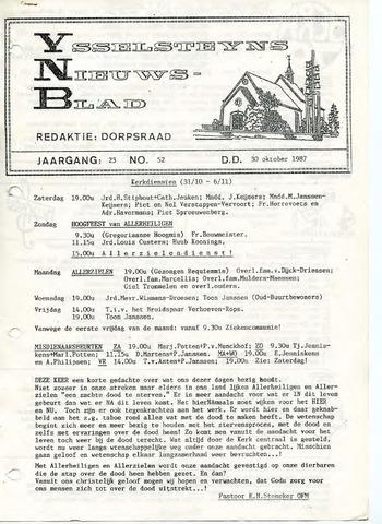 Ysselsteyns Nieuwsblad 1987-10-30