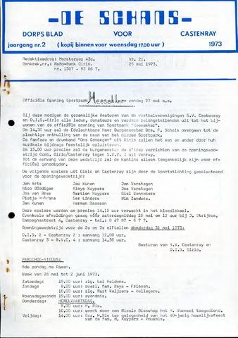 Castenrays dorpsblad De Schans 1973-05-25