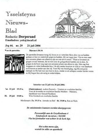 Ysselsteyns Nieuwsblad 2006-07-21